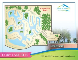 Cory Lake Isles Neighborhood Map