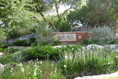 Rob Roy on the lake sign