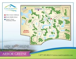 Arbor Greene Neighborhood Map