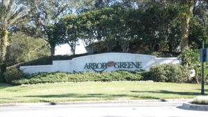 Arbor Greene-Entrance Sign