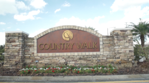 Country Walk-Entrance Sign
